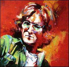 "Malcolm Farley ""John Lennon""Beatles Hand Signed Unique Canvas Make an Offer"