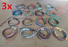3x multi string bracelets-wrist bands-anklets.Surfer/Friendship/Tribal FREE POST
