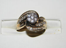 1.49CTW Diamond Cluster Ring 10KYG Gold, Size 8.25 ,  8 1/4, MSRP $3,900