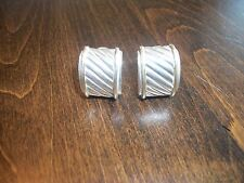 David Yurman Cigar Band Cable Silver & Gold Earrings