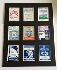 "SHEFFIELD WEDNESDAY RETRO POSTERS 14"" BY 11"" PICTURE MOUNTED READY TO FRAME"