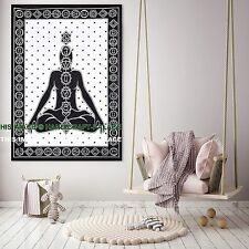 7 Chakra Buddha Wall Hanging Tapestry Indian Decor Yoga Throw Poster Tapestries