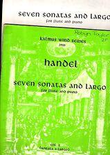 2 Sheet Music Book-set HANDEL Seven Sonatas for FLUTE & PIANO