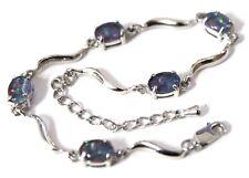 Australian  Opal Jewellery Natural Black Triplet Opal Bracelet 5 Opal stones