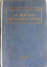 PERETTI-GRIVA, GARRONE LA PRATICA GIUDIZIARIA CIVILE FORMULARIO... UTET 1967