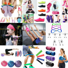 Exercise Fitness Yoga Mat Gym Ball Tension Band Pilates Sport Auxiliary Tool US