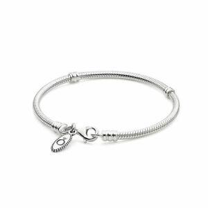 Genuine Pandora Sterling Silver Snake with Parrot Clasp19cm Bracelet 590700HV