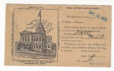 1902 Bridgewater CT, Private Mailing Card, Advertising Dime Specialty, Toy Doll