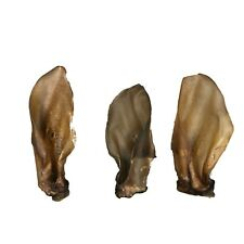 Buffalo Ears With Meat 100% Natural Cow Low Fat Dog Chew/Treats x 10