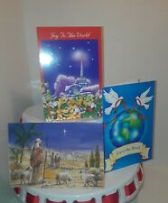6 Christmas Cards - scripture Matthew 5:9 with envelopes 3 designs Fantusy