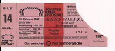 DEEP PURPLE & Bad Company Used Ticket Stuttgart 18.02.1987