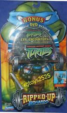 "Teenage Mutant Ninja Turtles 5"" Leonardo Ripped UP New Factory Sealed 2004 W DVD"