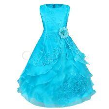 Vestidos de Fiesta de Noche Elegantes de Ceremonia de Organza Bordados para Niña
