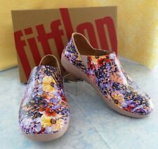 Fitflop Womens Superloafer Flowercrush Oyster Pink Size US 8 NIB