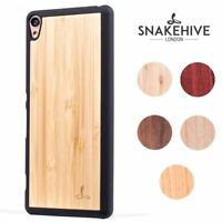 Snakehive® Sony Xperia XA Natural Wooden Real Wood Grain Back Case Cover