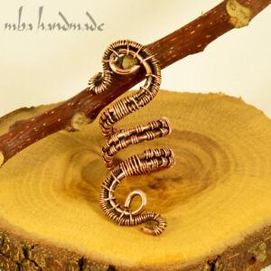 Spiral Antiqued Copper Viking Hair Beads Beard Dreadlock Hair Accessory