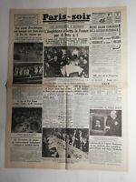 N343 La Une Du Journal Paris-soir 7 décembre 1933 l'Angleterre a battu la France