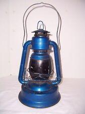 Vntg Dietz Little Wizard Red Globe Blue Lantern Lamp