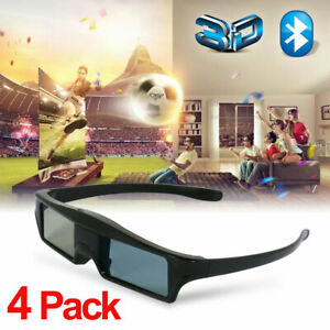 4x Blue-tooth 3DTV Brille Für Epson Beamer TW5300,8300,9300,5600 And 3DTV Sony