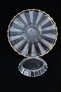 Dewdrop Lazy Susan Divided Relish Jeannette Glass Vintage