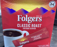 Folgers Classic Medium Roast Instant Coffee 24 Single Serve Packets/Box Feb '22