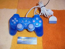 PS1 Playstation 1 Dualshock Analog Controller Original v. Sony Transparent Blau