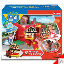 Robocar Poli ROY Pocket Play Set Fire Station Mini Car Transformer Robot Toy