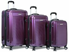 """New """"Dejuno"""" Polycarbonate Upright Light Weight Hard Shell Suitcases Luggage Set"""