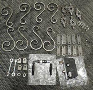 Wrought Iron Gate Components Scrolls Hinges Heads Lock Rope Handles SK014 BB 01