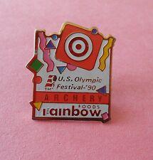 Archery Olympic Festival Rainbow Foods Sponsor Pin