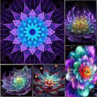 EE_ BL_ 5D DIY Diamond Beauty Flower Embroidery Painting Cross Stitch Home Decor