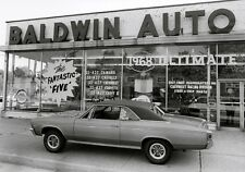 1967 Chevelle ss 396 in front of Baldwin Motors Chevy LI NY 8 x 10 Photograph