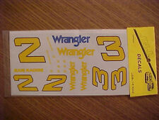 1981 DALE EARNHARDT YELLOW #2 & #3 WRANGLER 1/24 SCALE WATER SLIDE DECAL SHEET