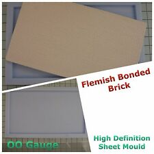 Model Railway - Flemish Bonded Brick Sheet mould - OO/HO - Linka Compatible