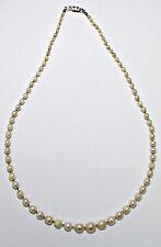 Perlenkette Perlen - Kette Silberschließe 800 er Silber USA ? Elco Schließe (?)