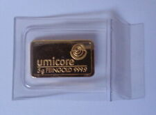 Goldbarren,Anlagegold,Feingold, umicore 5g Gold Feingehalt 999/1000