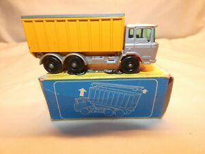 VINTAGE 1960's MATCHBOX LESNEY #47 DAF TIPPER CONTAINER TRUCK WITH ORIGINAL BOX