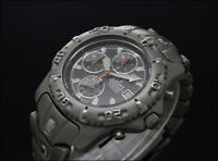 Used CAUNY TITANIUM DIVER CHRONOGRAPH 41mm vintage quartz watch SMALL WRIST 18Cm