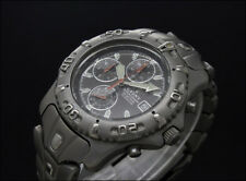 Used CAUNY TITANIUM DIVER CHRONOGRAPH 41mm vintage quartz watch SMALL WRIST 18Cm