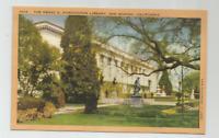 THE HENRY E. HUNTINGTON LIBRARY, SAN MARINO, CA POSTCARD #1016
