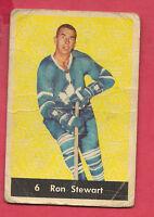 1961-62 PARKHURST # 6 LEAFS RON STEWART   CARD