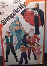 1982 Adult Costume Pattern Santa, Pirate, Belly Dancer MORE Size Medium UNCUT FF