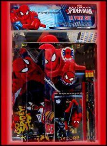 Marvel ULTIMATE Spider-Man SCHOOL SUPPLY KIT 11 Pcs PENCILS POUCH NOTEBOOK FOLDE