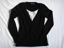 Esprit Black Knit Over White Shirt, Jumper Size M