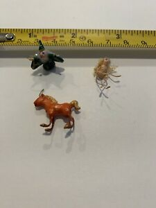Vintage Dollhouse miniature figurine wizard fairy/angel Unicorn Handmade 1:24