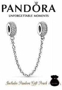 NEW Authentic Pandora Silver 925 Pave Inspiration Bracelet Safety Chain 791736CZ