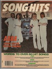 May 1977 SONG HITS magazine *ABBA* with words to over 60 hit songs