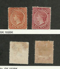 Turks Islands, Postage Stamp, #4-5 Mint Hinged, 1873-79, JFZ