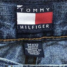 TOMMY HILFIGER Jeans Size 34x27 Flag  Logo Freedom Pli Pli