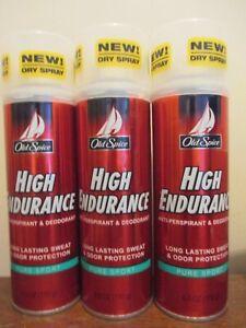 3x Old Spice High Endurance PURE SPORT Anti-Perspirant & Deodorant Spray 6 oz